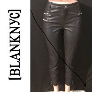 NWT BLANK NYC Vegan Leather Ankle Zip Skinny